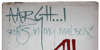 Rat Infested Mailbox Font handwriting drawing