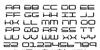QuickTech Font Letters Charmap