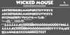 Wicked Mouse Font design typography