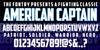 American Captain Font text screenshot