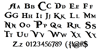 BlackPearl Font Letters Charmap
