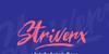 Striverx Font design typography