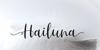Hailluna Font handwriting design