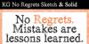 KG No Regrets Font design text