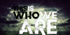 This is who we are Font poster screenshot