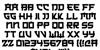 Japanese 3017 Font Letters Charmap