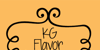 KG Flavor And Frames Two Font cartoon drawing