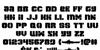 Space Cruiser Regular Font Letters Charmap