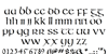 IrishUnciAlphabet Font Letters Charmap