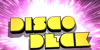 Disco Deck Font design cartoon