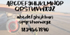 Jackson Font text handwriting