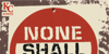 None Shall Pass Font poster sign