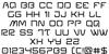 Miracle Mercury Font Letters Charmap