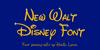 New Waltograph Font design typography