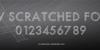 PWScratchedfont screenshot design