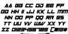 Robot World Italic Font Letters Charmap