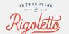 Rigoletto Font design handwriting