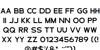 Cosans Pro DEMO Font Letters Charmap
