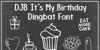 DJB It's My Birthday Font text cartoon