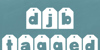 DJB TAGGED Font screenshot design