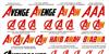 Avengeance Font text poster