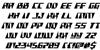 X-Racer Regular Font Letters Charmap