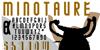 MINOTAURE Font poster cartoon