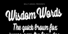 Wisdom Words Personal Use Font text typography