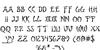 Bushido Font Letters Charmap