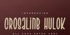 Crosaline Hulok Font poster design