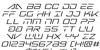 Banshee Pilot Italic Font Letters Charmap