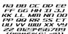 SDF Italic Font Letters Charmap