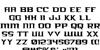 Kreature Kombat Condensed Font Letters Charmap