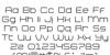 Bretton Font Letters Charmap