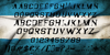 Argentina Austral Font handwriting text