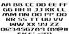 Sky Marshal Font Letters Charmap
