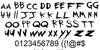 My Chemical Romance Font Letters Charmap