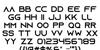 Azonix Font Letters Charmap