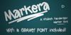 Markera  Font design text