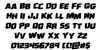 Uglier Things Staggered Rotalic Font Letters Charmap