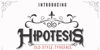 Hipotesis Font design