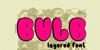 Bulb Font cartoon illustration