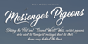 Messenger Pigeons Personal Use Font text
