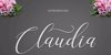 claudia Font design handwriting