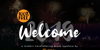Welcome 2019 Font fireworks text