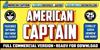 American Captain Patrius 02 FRE Font text poster