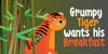 DK Grumpy Tiger Font cartoon design