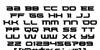Lethal Force Regular Font Letters Charmap