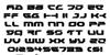 Royal Samurai Font Letters Charmap