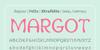 Margot Font screenshot design